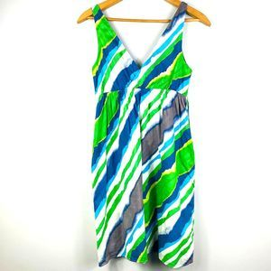Old Navy Green Blue Striped Casual Dress Size S